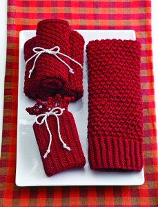Tahki Cotton Classic Lite Knit Red Home Spa Set Kit - Home Accessories