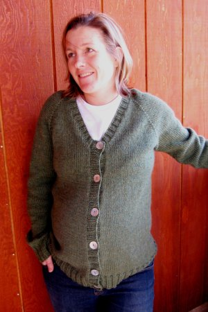 Knitting Pure and Simple Women's Cardigan Patterns - 0274 - Top Down V Neck Maternity Cardigan Pattern