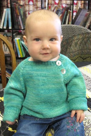 Knitting Pure and Simple Baby & Children Patterns - 1210 - Button Front Baby Pullover Pattern
