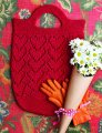 Plymouth Fantasy Naturale Knit Red Greenmarket Tote Kit