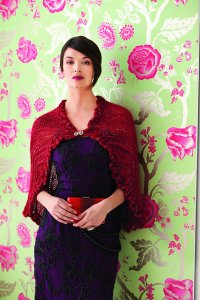 Artyarns Knit Red Silk and Mohair Cape Kit - Scarf and Shawls