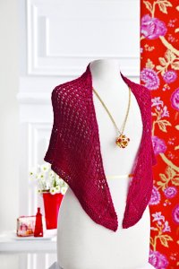 Lorna's Lace Honor Knit Red Eyelet Shawl Kit - Scarf and Shawls