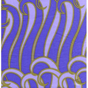 Jane Sassaman Sunshine and Shadow Fabric - Fronds - Periwinkle