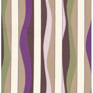 Annette Tatum Mod Fabric - Mod Stripe - Grape