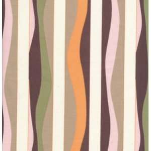 Annette Tatum Mod Fabric - Mod Stripe - Papaya