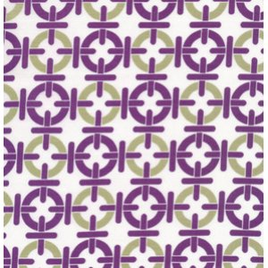 Annette Tatum Mod Fabric - Chain Link - Grape