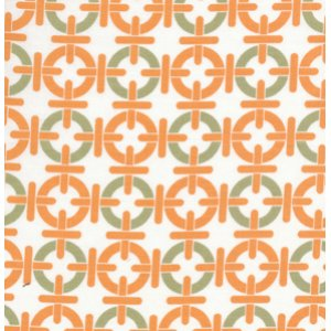 Annette Tatum Mod Fabric - Chain Link - Papaya