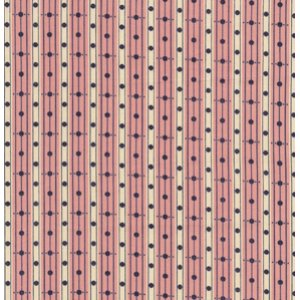 Denyse Schmidt Greenfield Hill Fabric - Library Stripe - Cranberry