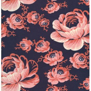 Denyse Schmidt Greenfield Hill Fabric - Preservation Peony - Cranberry