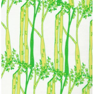 Tina Givens Opal Owl Fabric - Bark - Green