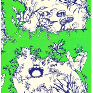 Tina Givens Opal Owl Fabric - Opal's House - Green