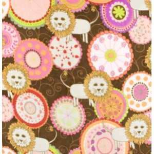 Valori Wells Bliss Micro Fleece Fabric - Lions - Ruby