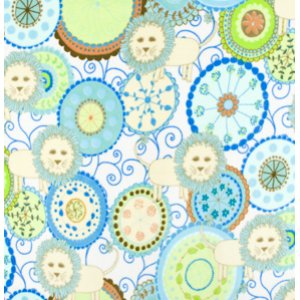 Valori Wells Bliss Micro Fleece Fabric - Lions - Turquoise