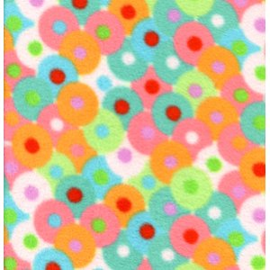 Valori Wells Bliss Micro Fleece Fabric - Circles - Multi