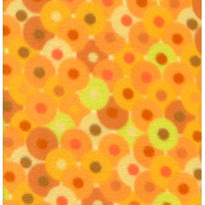 Valori Wells Bliss Micro Fleece Fabric - Circles - Tangerine