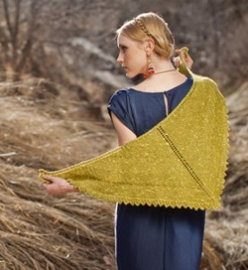 The Fibre Company Acadia Mountain Nettle Shawl Kit - Scarf and Shawls