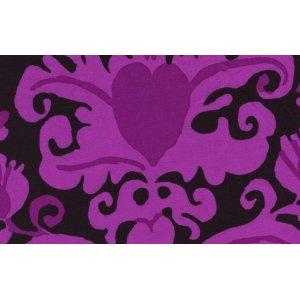Brandon Mably Burlesque Brocade Fabric - Black