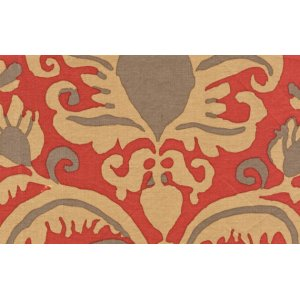 Brandon Mably Burlesque Brocade Fabric - Rust