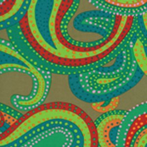 Brandon Mably Dancing Paisley Fabric - Green