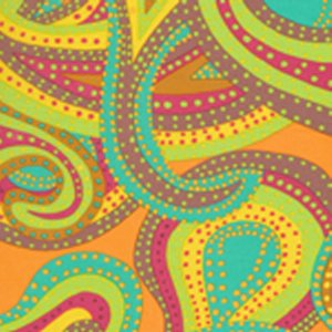 Brandon Mably Dancing Paisley Fabric - Pastel