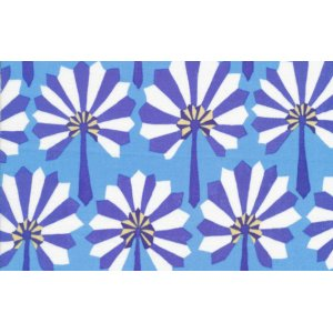 Kaffe Fassett Palm Fan Fabric - Blue