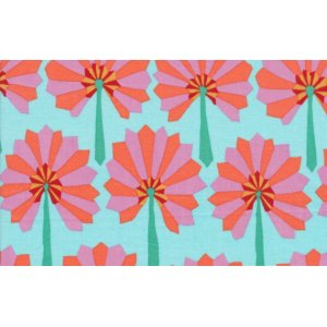Kaffe Fassett Palm Fan Fabric - Sky