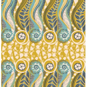 Anna Maria Horner Innocent Crush Voile Fabric - Slow Dance - Golden