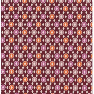Denyse Schmidt Hope Valley Fabric - Diamond Dandy - Fiesta
