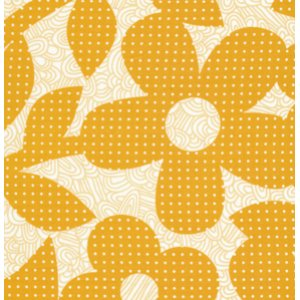 Erin McMorris Weekends Fabric - Dots and Loops - Gold