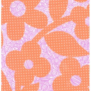 Erin McMorris Weekends Fabric - Dots and Loops - Peach
