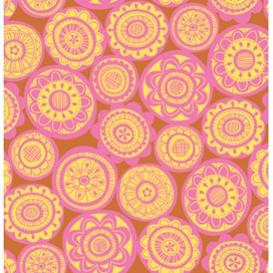 Erin McMorris Summersault Fabric - Cartwheel - Goldenrod