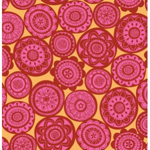 Erin McMorris Summersault Fabric - Cartwheel - Rose
