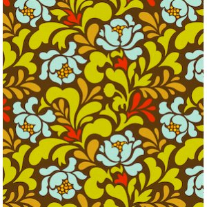 Heather Bailey Pop Garden Fabric - Sway - Brown
