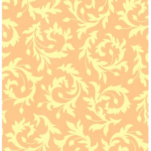 Heather Bailey Bijoux Fabric - Swirly Buds - Peach