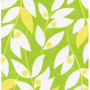 Heather Bailey Nicey Jane Fabric - Lindy Leaf - Green