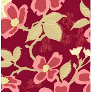 Joel Dewberry Modern Meadow Fabric - Sunflower - Berry