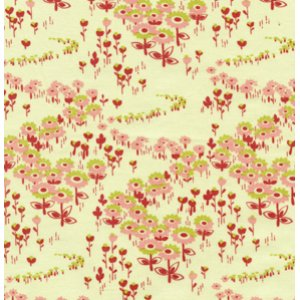 Joel Dewberry Modern Meadow Fabric - Flower Fields - Berry