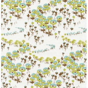 Joel Dewberry Modern Meadow Fabric - Flower Fields - Timber