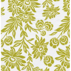 Joel Dewberry Modern Meadow Fabric - Hand Picked Daisies - Grass