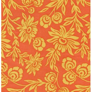 Joel Dewberry Modern Meadow Fabric - Hand Picked Daisies - Sunset