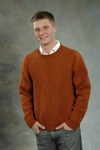 Plymouth Sweater & Pullover Patterns - 1880 Men's Galway Worsted Sweater Pattern