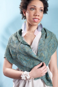 Manos del Uruguay Serena Ginkgo Counterpanes Shawl Kit - Scarf and Shawls