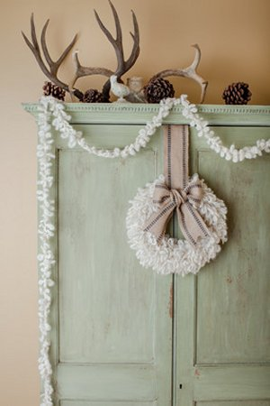 Churchmouse at Home Patterns - Wooly Wreath and Garland Pattern
