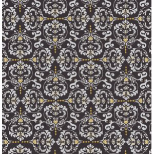 Valori Wells Novella Fabric - Heart De Fleur - Charcoal