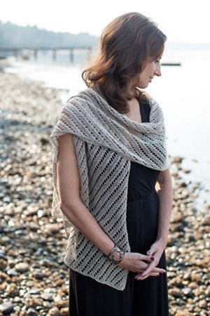 Churchmouse Classics Patterns - Diagonal Lace Scarf & Wrap Pattern