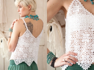 Rowan Siena 4Ply Lace Tank Kit - Crochet for Adults