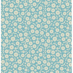 Jenean Morrison In My Room Fabric - Loft - Blue