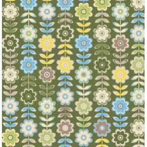 Jenean Morrison In My Room Fabric - Retreat - Green