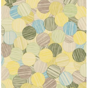 Jenean Morrison In My Room Fabric - Sunday Paper - Green