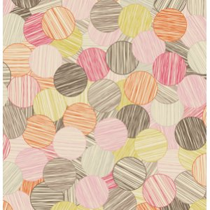 Jenean Morrison In My Room Fabric - Sunday Paper - Pink